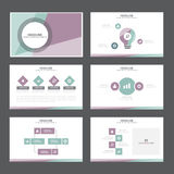 Purple green presentation template Infographic elements flat design  set forbrochure flyer leaflet marketing Stock Image