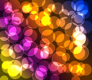 Purple green red blue yellow  colored bokeh background. Colorful  bokeh background texture bubbles Stock Image