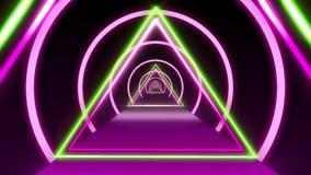 Purple Green Retro Tunnel VJ Loop Motion Background