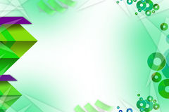 Purple and green shapes overlaping left side, abstrack background Stock Image