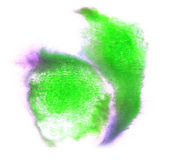 Purple, green stroke abstract ink watercolor brush water color s Royalty Free Stock Images