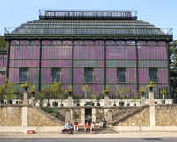 Purple greenhouse in Jardin des Plantes, Paris Royalty Free Stock Image