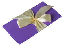 Purple greeting card isolated on the white background Royalty Free Stock Images