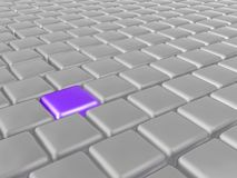 Purple and grey cubes. As abstract background, 3D illustration Stock Illustration