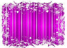 Purple Grunge Christmas Frame Stock Photos