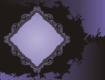 Purple grunge frame Stock Image