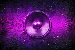 Purple grunge music speaker Royalty Free Stock Photo