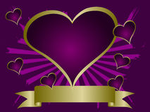 Purple Grunge Valentines Background Royalty Free Stock Images