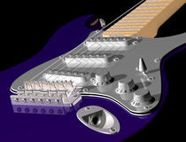 Purple guitar Stock Photography
