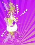 Purple Guitar Stock Photo