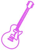 Purple guitar illustration Stock Images