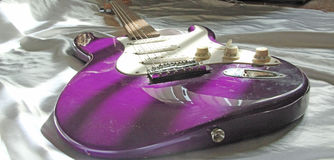 Purple Guitar Royalty Free Stock Images