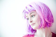Purple Hair Stock Photos