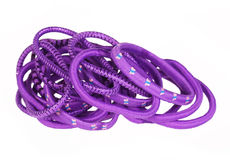 Purple hair bands isolated. Stock Images