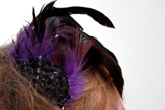 Purple hair clasp Royalty Free Stock Photo