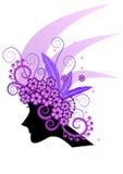 Purple hair Royalty Free Stock Image