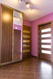Purple hall interior in the apartment Stock Images