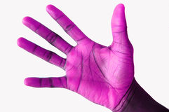 Purple Handed Orignal. This is an image of a black hand that has been 'hued ' to appear purple royalty free stock photo