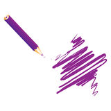 Purple handwritten star Royalty Free Stock Photos