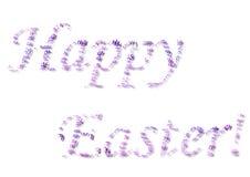 Purple Happy Easter Stock Photos