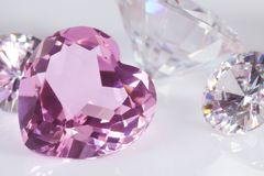 Purple hart diamond Royalty Free Stock Photos