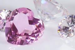 Purple hart diamond. Focus on purple hart diamond royalty free stock photos