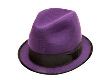 Purple hat Royalty Free Stock Photos