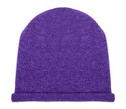 Purple hat on a white stock photo