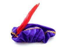 Purple hat of Zwarte Piet Stock Image