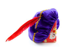 Purple hat of Zwarte Piet Stock Photography