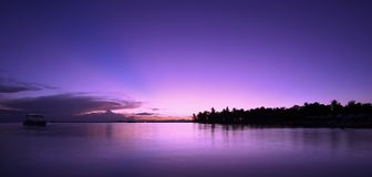 Purple Haze. Lakawon Island Resorts Sunset Stock Photos