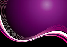 Purple haze wave Stock Photo