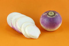 Purple headed turnips Stock Photo