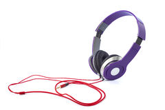 Purple headphones Royalty Free Stock Images