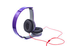 Purple headphones Royalty Free Stock Photos