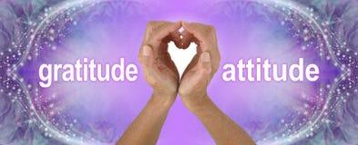 Purple Heart übergibt Dankbarkeits-Haltungs-Fahne stockfotografie