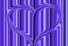 Purple heart. Backgound of a abstract purple heart Stock Illustration