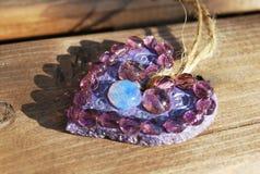 Purple Heart al valor militare per il biglietto di S. Valentino Fotografia Stock