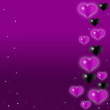 Purple heart background Royalty Free Stock Photography