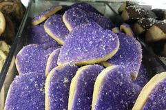 Purple Heart Cookies Stock Photo
