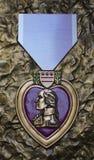 Purple Heart del monumento de WW II, sabana, GA fotografía de archivo
