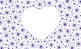 Purple heart flower Stock Image