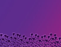 Purple Heart Flowers. Abstract background illustration of purple heart flowers stock illustration