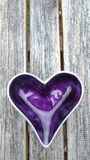Purple heart Royalty Free Stock Photo