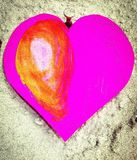 Purple heart love Royalty Free Stock Photo