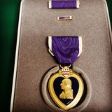 Purple Heart Royalty Free Stock Photos