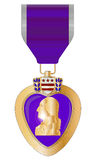 Purple Heart Medal. A purple heart medal isolated on a white background Stock Photo