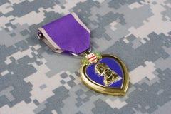 Purple Heart nagroda na mundurze Fotografia Royalty Free