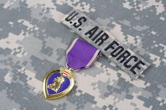Purple Heart nagroda na USA siły powietrzne mundurze Zdjęcia Royalty Free