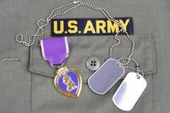 Purple Heart nagroda na wojska usa ol Obraz Stock